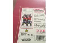 Cossato double pram