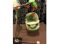 Excellent condition Fisher price rainforest swing