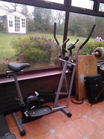 Exercise bike with calorie counter,time etc.
