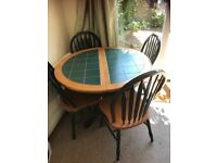 Table and chairs selling as moving