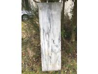 """Marble slabs 5' x 18"""" white and grey"""