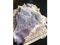 Lilac Wedding Bunting £25