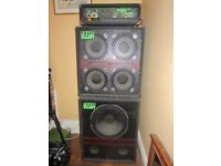 Trace Elliott AH250 - GP11 Head with Trace 4 x 10 and 1 x 15 cabs (mid 80s classic)
