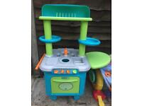 Outdoor garden toy sizzlin kitchen