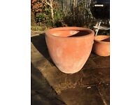 Selection of large terracota / earthenware pots