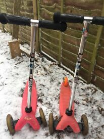 Children micro scooter x2 both in working order