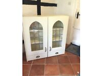 Modern Farmhouse 2x Cream cupboards with soft close drawers