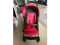 Red joie pushchair imacculate condition