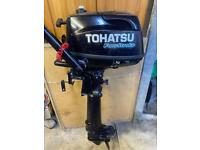 Tohatsu 4hp long shaft four stroke outboard 2015