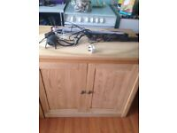 Fish tank cabinet and heaters and pump