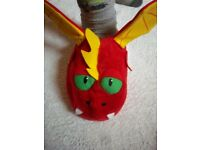 Red Dragon Stompeez Slippers Size 4 / Eur 37 IP1