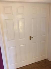 Internal doors x8 - 6 panel design