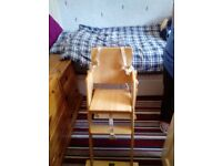 Kids couture wooden high chair ,new