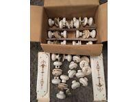 Ceramic mortice door handles job lot/bundle (10 pairs+)