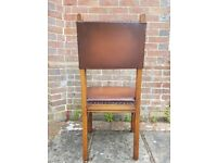 Oak dining chairs (Leather upholstery)