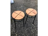 Set of wooden stools