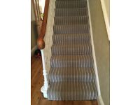 Stair Carpet 100% Wool *Quality* Stripy Carpet + Landing