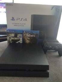 Sony Playstation 4 1TB Ultimate Players Edition Boxed + Extra Controller 3 games