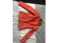 Women's Barbour quilted tweed jacket- Red uk size 10