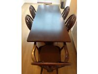 Large dinning table with 5 chairs