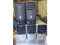 5x Dell Dimension. Office clearance. Joblot. No HDDs.