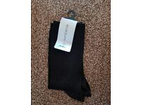 River island black socks ladies women size 3-8 new with tags