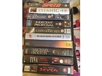 10 VHS tapes - films and music