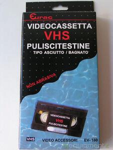 Eurac-Video-Cassetta-Pulisci-Testine-VHS-Tipo-Asciutto-Bagnato-Nuova