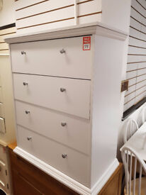 kensington 4 drawer chest white