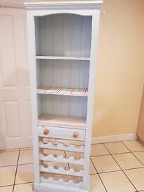 PINE BOOKCASE/WINE RACK WITH SHELVES