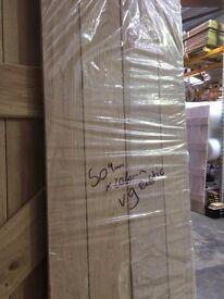 Door 454 - Solid Oak Select Rustic Internal Door - V groove - 500mm x 2060mm