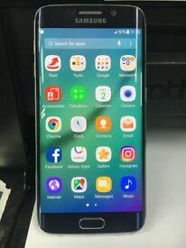 Samsung Galaxy S6 Edge Phone 64GB Black Unlocked Used Very Good Condition. mobile smart phone