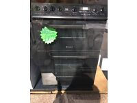 HOTPOINT 60CM CEROMIC TOP ELECTRIC COOKER IN BLACK