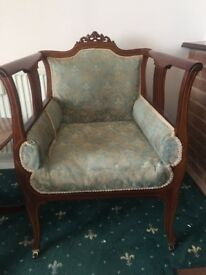 Edwardian antique side chair