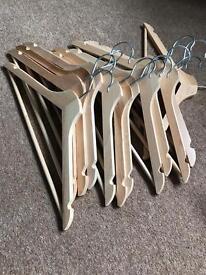 12 clothes hangers