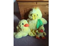 Collection of chick soft toys