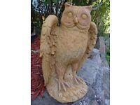 stone owl garden statue