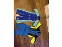 Kids Gul and osprey wetsuits