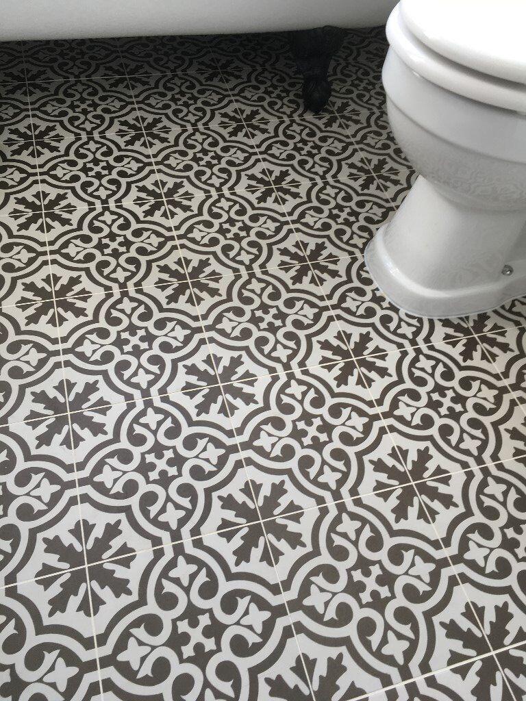 3 X Berkeley Charcoal Floor Tiles From Topps