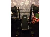 EVERLAST WEIGHT BENCH WITH WEIGHTS