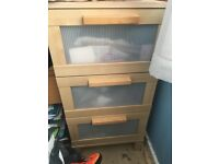 2 x Ikea 3 drawer chests - bargain £35 the pair