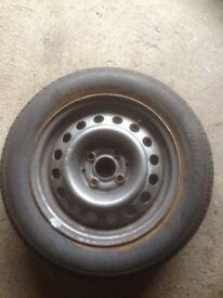 Tyre 175/65 R14 tyre + steel wheel