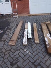 Wood 94 x 3 x 2 Good Quality Very cheap to clear 3 Pieces