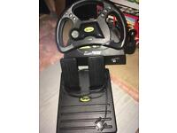 Mad Catz steering wheel PS2/PS1