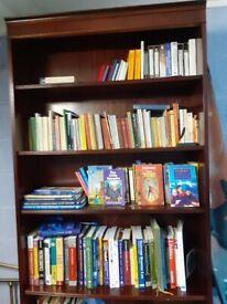 Quality dark wood bookcase