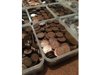 MASSIVE LOT BRITISH PRE DECIMAL COINS