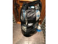 Bag of Size 5 Rugby Balls (16 total) and training aid balls