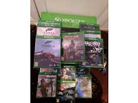 Xbox one with 500gb and kinect and 13 games (good condition)