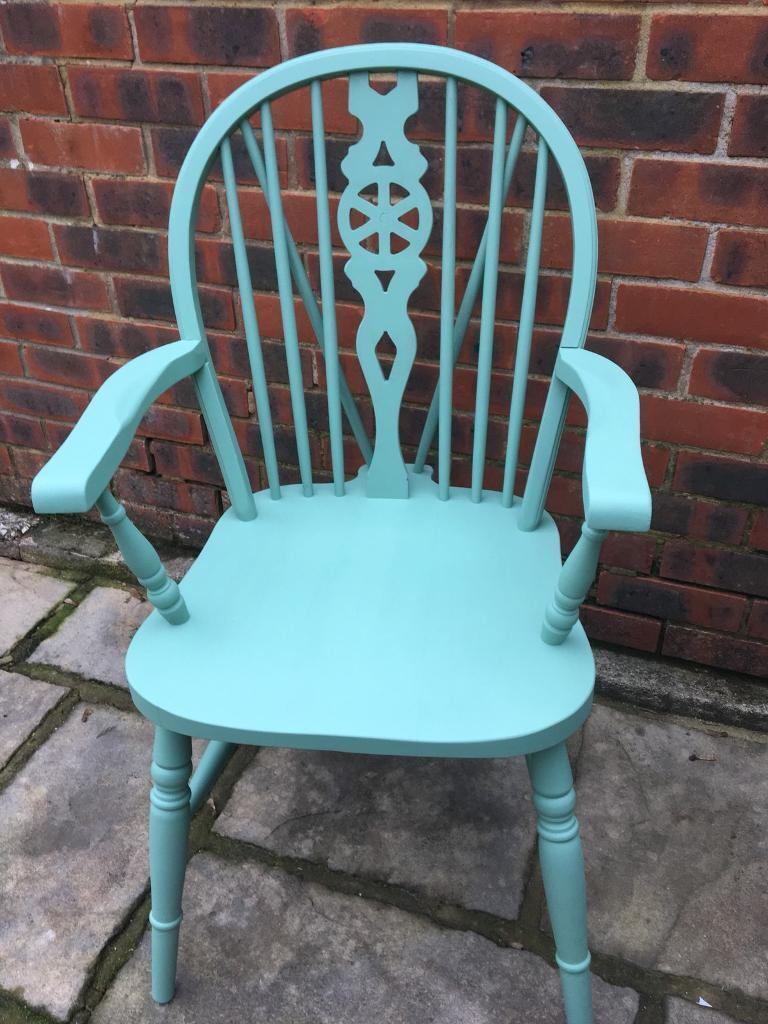 4 Pine Chairs including 2 Carvers - Refurbished