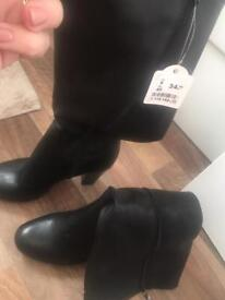 Brand new Black knee high boots size 6